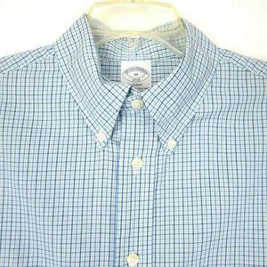 BROOKS BROTHERS Men's M Plaid Shirt M 34 Sleeve